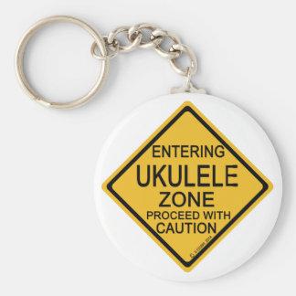 Entering Ukulele Zone Key Ring