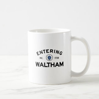 Entering Waltham Basic White Mug