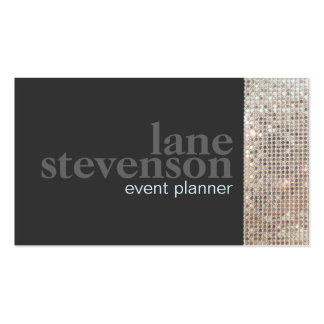 Entertainment  Sparkling FAUX Sequins Black 2 Pack Of Standard Business Cards