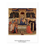 Enthroned Madonna And Saints By Fra Angelico Postcard