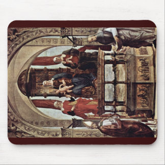 Enthroned Madonna And Saints Mousepad