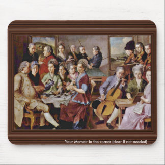 Enthroned Madonna Angels And Saints By Pontormo Ja Mouse Pad