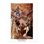 Enthroned Madonna By Guido Reni Post Cards