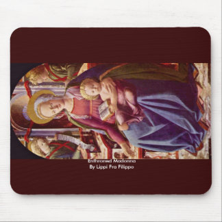 Enthroned Madonna By Lippi Fra Filippo Mouse Pads