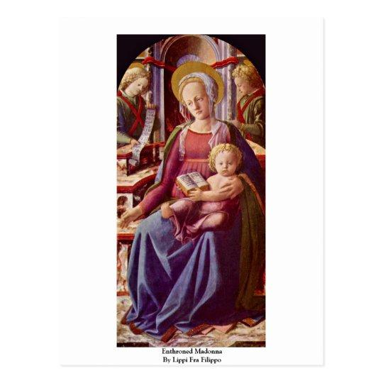 Enthroned Madonna By Lippi Fra Filippo Postcard