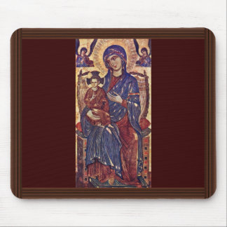 Enthroned Madonna By Toskanischer Meister Des 13. Mouse Pad