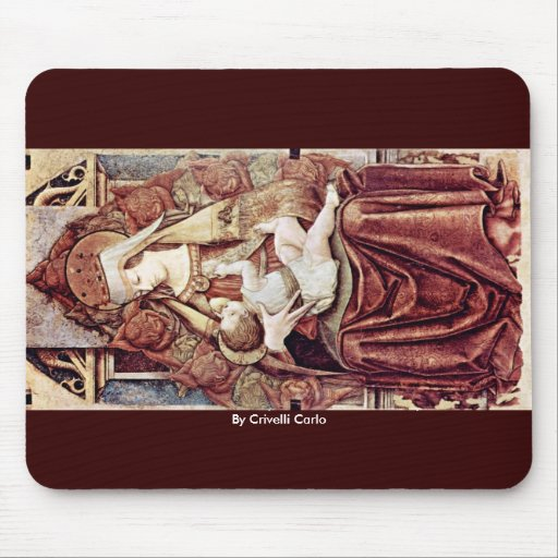Enthroned Madonna (Enthroned Maria Lactans) Mousepads