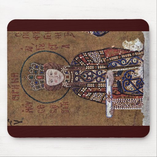 Enthroned Mary With Christ Blessing Children Mousepad