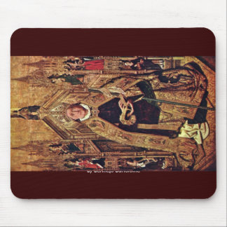 Enthroned St. Dominic Of Silos With The 7 Cardinal Mouse Pad