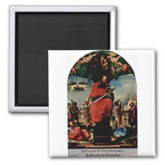 Enthroned St. Paul Altarpiece Refrigerator Magnet