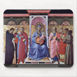Enthroned Virgin And Child With Saints Mouse Pad