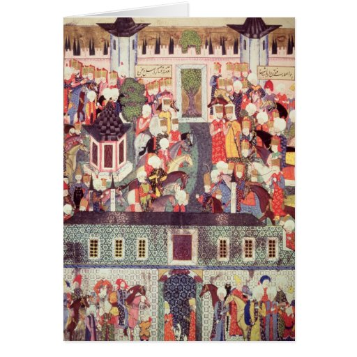 Enthronement of Suleyman the Magnificent Card