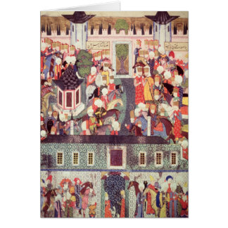 Enthronement of Suleyman the Magnificent Greeting Card