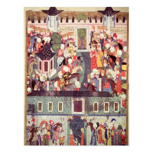 Enthronement of Suleyman the Magnificent Post Card