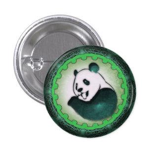 Enthusiastic Munching Panda in Green 3 Cm Round Badge
