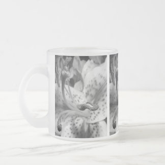 Enticing Lily Frosted Glass Coffee Mug