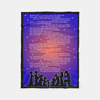 Entire Psalm 91 Fleece Blanket