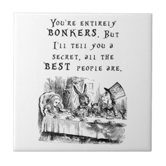 entirely bonkers A4 Small Square Tile