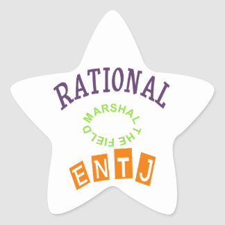 ENTJ Rationals Personality Star Sticker