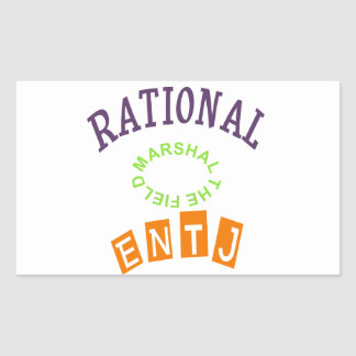 ENTJ Rationals Personality Rectangle Sticker