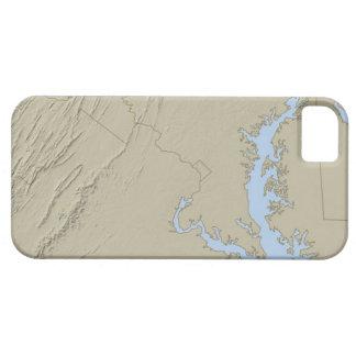 Entlastungs-Karte von Maryland iPhone 5 Cover