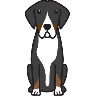 Entlebucher Mountain Dog Cartoon Acrylic Cut Out