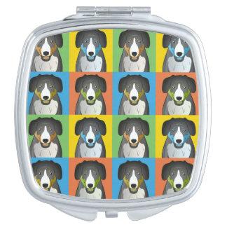 Entlebucher Mountain Dog Cartoon Pop-Art Compact Mirrors