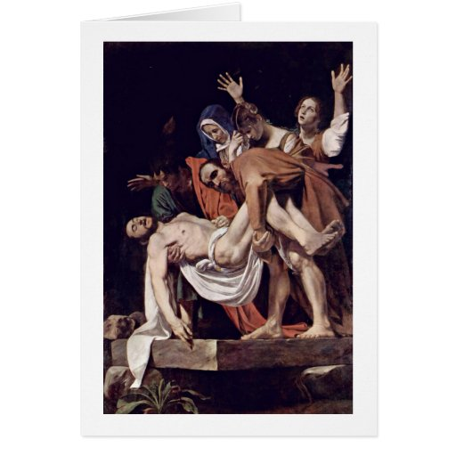 Entombment By Michelangelo Merisi Da Caravaggio Greeting Cards