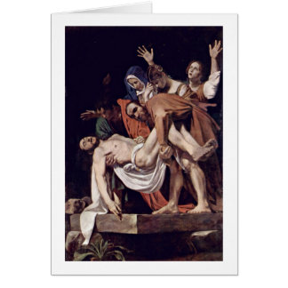 Entombment By Michelangelo Merisi Da Caravaggio Greeting Card