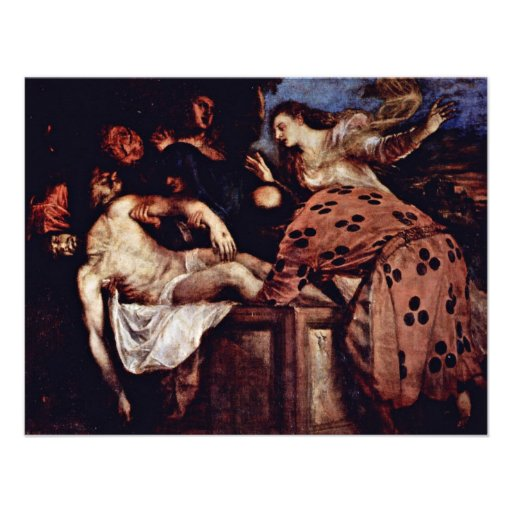 Entombment By Tizian (Best Quality) Personalized Invitation