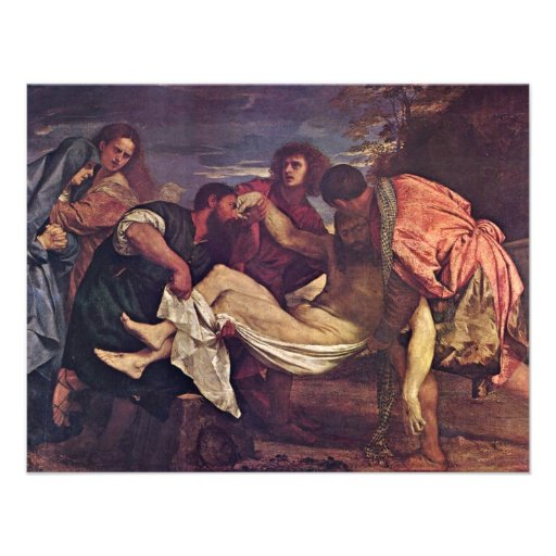 Entombment By Tizian (Best Quality) Invitations
