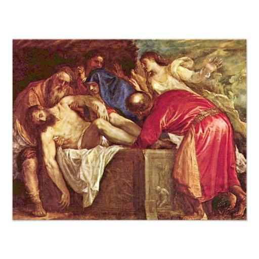 Entombment By Tizian (Best Quality) Invites