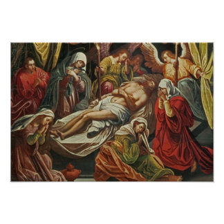Entombment of Christ, Villabranca Poster
