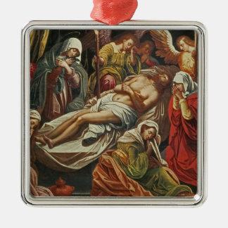 Entombment of Christ, Villabranca Silver-Colored Square Decoration