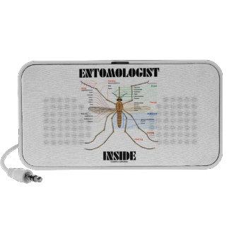 Entomologist Inside Mosquito Anatomy Notebook Speaker