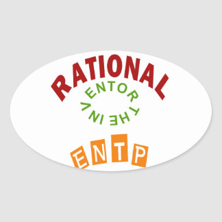 ENTP Rational personality Oval Sticker