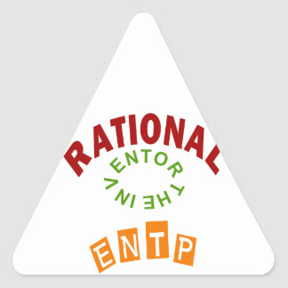 ENTP Rational personality Triangle Sticker