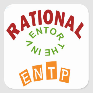 ENTP Rationals Personality Square Sticker