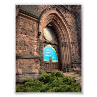 Entrance Door at Trinity Church in Buffalo NY Photo Print