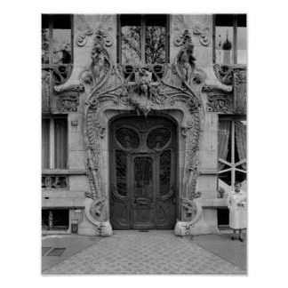 Entrance door to the apartments poster