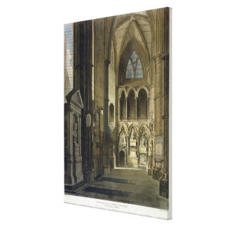 Entrance into Poet's Corner, plate 26 from 'Westmi Stretched Canvas Print