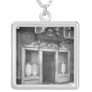 Entrance of a brothel in Paris Silver Plated Necklace