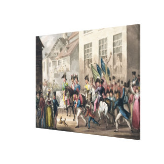 Entrance of the Allies into Paris, March 31st 1814 Stretched Canvas Print