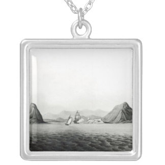 Entrance of the Harbour of Rio de Janeiro Silver Plated Necklace