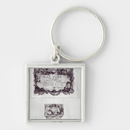 Entrance ticket for the ball in Versailles Key Chains