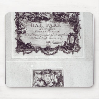 Entrance ticket for the ball in Versailles Mouse Mat