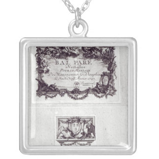 Entrance ticket for the ball in Versailles Silver Plated Necklace