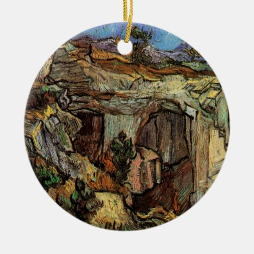 Entrance to a Quarry near Saint-Remy by van Gogh Ornament