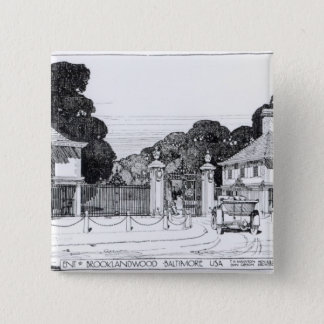 Entrance to Brooklandwood, Baltimore, USA, from Th 15 Cm Square Badge