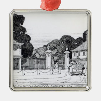 Entrance to Brooklandwood, Baltimore, USA, from Th Christmas Ornament